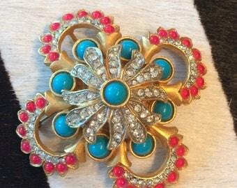 Vintage Cadoro Bakelite Brooch Pin NYC