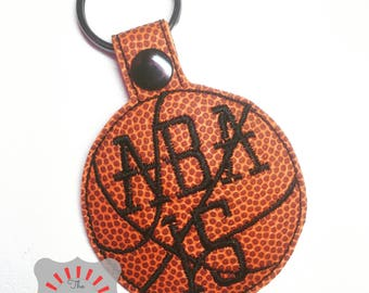 Basketball Keychain, Basketball Key Chain, Vinyl Basketball Keychain, Sports Keychain, Basketball Keyfob, Basketball Zipper Pull, Bag Tag