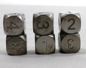 Zucati Dice: Tungsten 6d6 Set Round Corners