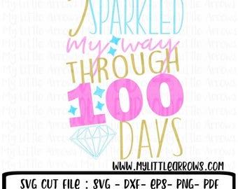 40% off - Sparkle svg - 100 days of school svg - school svg - SVG DXF EPS png files - 100 days of school diy - 100 days of school shirt - gi