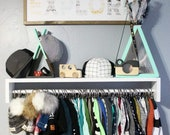 Beanie/Slouchy Shelf - Organize - Hats - Beanies - Custom - Kids - Room - Decor - Baby - Home - Shelves - Gifts - Birthday - Boy - Girl