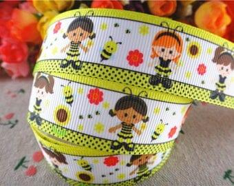 honeybee Ribbon grosgrain Ribbon 25mm sold per meter
