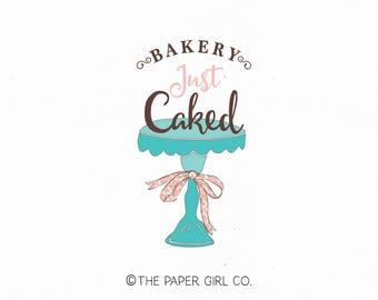 cake stand logo bakery logo baking logo bakers logo home baking logo baking blog logo cake logo design premade logo bespoke logo design