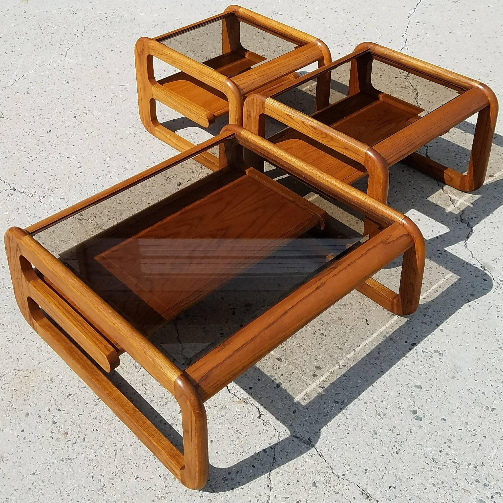 Set of Danish Modern Cantilever Tables by Lou Hodges for