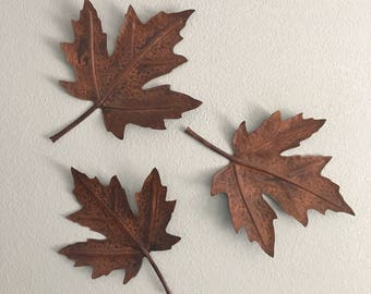 Metal Leaf Wall Art Delectable Metal Leaf Wall Art Etsy 2017