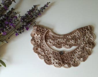 Crochet collar, collar necklace, collar, lace collar, cotton collar
