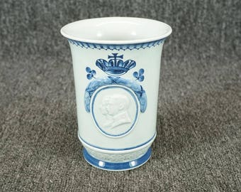 Vintage Ceramic Cup Marriage Of Prince Christian And Princess Alexandrine 1898