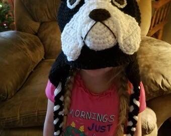 Crochet French bulldog hat