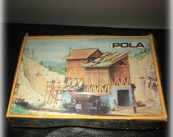 Vintage Pola N Gauge 252 Model Train Building Unassembled With Instructions