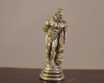 Hercules,miniature,small statue,silver plated ,from a chess set,size perfect for dollhouse,fairy gardens