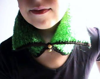 Neon Green neck degraded mixed yarn