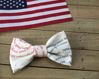 4th of July, Liberty Collection \\ The Heidi Bow // in Land of the Free, Fourth of July Bow, 4th of July Hairbow, Tuxedo Bow, Summer Hair Bo