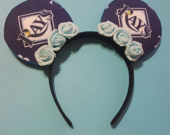 On Sale: As is- Tampa bay Rays Baseball Mouse Ears headband