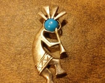 Vintage Kokopelli Sterling 925 Necklace Pendant
