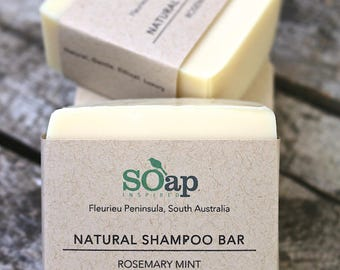 Natural Shampoo Bar with White Mallow - Vegan - Palm Oil Free - Natural - Mild