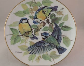 """Blue Tit Collectors Plate, WWF Songbirds of Europe by Ursula Band – 8"""""""
