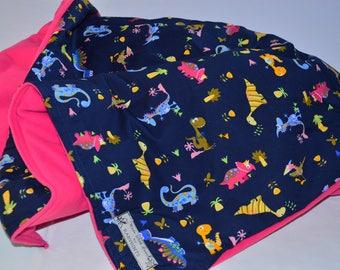 Baby Dinosaur Blanket, Baby Fleece Blanket, Baby Animal Blanket, Dinosaur Quilt, Dinosaur Blanket, Fleece Blanket, Pink Blanket, Kids Quilt