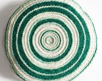 Round woven cushion - woven cushion - cushion canopy, plant Collection - Totem by Poppy
