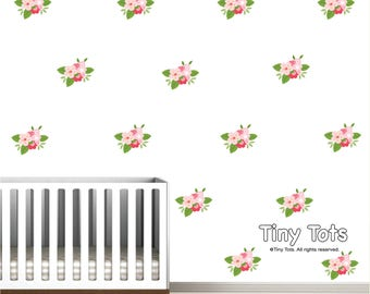 Wall Decals-Nursery Wall Decals-Wall Decal-Floral Wall Decal-Pattern Wall Decal-Flower Wall Decal
