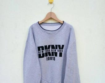 20% OFF Vintage DKNY Sweatshirt/DKNY Sweater/Dkny Spell Out/Big Logo