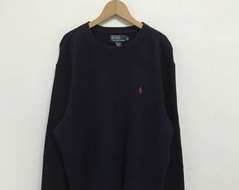 "20% OFF Vintage Polo Ralph Lauren Small Pony Sweatshirt Armpit 24""/Ralph Lauren Sweater/Polo Sport"