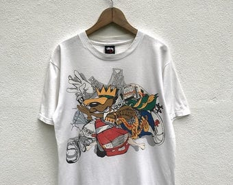 20% OFF Vintage Stussy T Shirt Zoo York Hip Hop Swag Rare 90s Shirt