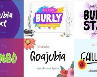 26  Unigue Digital Fonts, Instant Download!