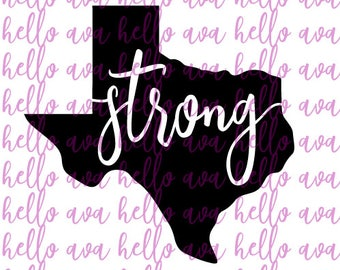 texas strong svg file, dxf file, all profits will be donated to Hurricane Harvey relief efforts, texas cut file