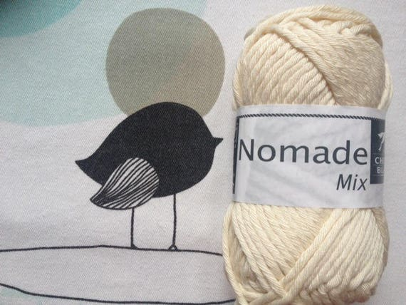 WOOL MIX natural - white horse Nomad