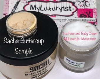 Absorbing Gentle Face Moisturizer Baby Soft Body Cream Lotion and Sacha Buttercup Baking Highlighter Translucent Finishing Powder Lot of 2