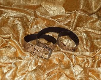 Genuine vintage belt - python
