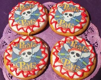 Ahoy Matey Pirate sugar cookies