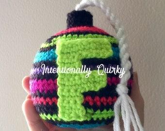 F is for Fabulous F Bomb Crochet Pattern