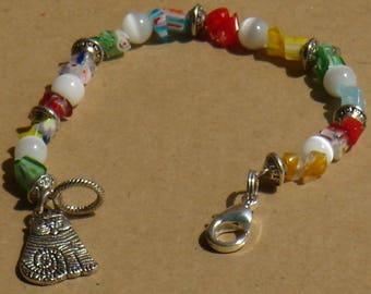 Crazy tabby cat bracelet