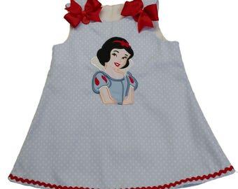 Girl Snow White dress  Girl Aline dress Girl Snow White A-line dress toddler dress, baby dress, birthday girl dress  girl dress A-line dress