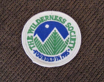 Vintage The Wilderness Society Patch Free Shipping