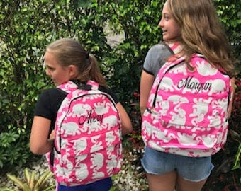 LILLY PULITZER Backpack  with Free  Lunchbag  & Monogrammed Free !!