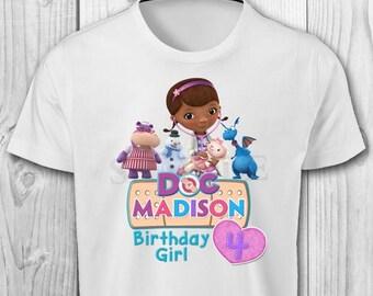 Doc McStuffins Iron On T-shirt - Doc McStuffins Birthday Girl - Doc McStuffins Printables - Doc McStuffins Iron On Transfer
