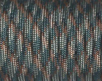 30 meters of Paracord 4mm dark blackish Camo green ideal for survival bracelets