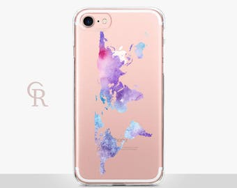 Map Clear iPhone Case - Clear Case - For iPhone 8 - iPhone X - iPhone 7 Plus - iPhone 6 - iPhone 6S - iPhone SE Transparent - iPhone 5 Case