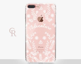 Adventure iPhone X Clear Case - Clear Case - For iPhone 8 - iPhone X - iPhone 7 Plus - iPhone 6 - iPhone 6S iPhone SE Transparent Samsung S8