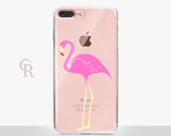 Flamingo Clear Phone Case For iPhone 8 iPhone 8 Plus iPhone X Phone 7 Plus iPhone 6 iPhone 6S  iPhone SE Samsung S8 iPhone 5 Transparent