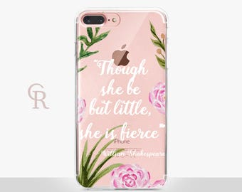 She Is Little Clear Phone Case For iPhone 8 iPhone 8 Plus iPhone X Phone 7 Plus iPhone 6 iPhone 6S  iPhone SE Samsung S8 iPhone 5