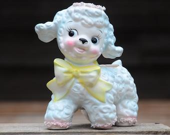 Vintage Relpo Samson Import Co, 1961 Lamb Planter. Big Eyes Baby Planter/Vase.Vintage Nursery. Lamb Decor. Baby Shower Gift. New Baby Gift.