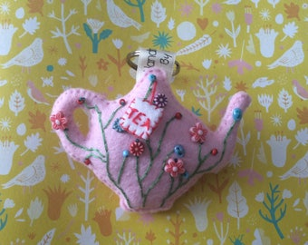 Embroidered Teapot
