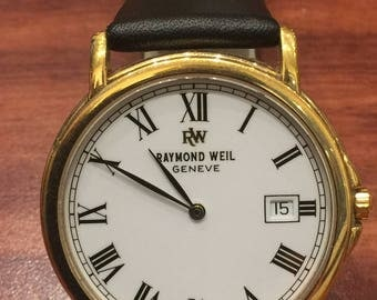 Raymond Weil Geneve 18K Gold-Plated Gents' Wristwatch with Date