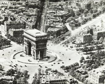 Poster, Many Sizes Available; Aerial View Of The Arc De Triomphe, Paris, France, Ca. 1900