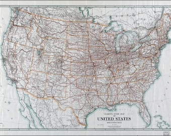 Poster, Many Sizes Available; Clason'S Map Of United States Of America 1919