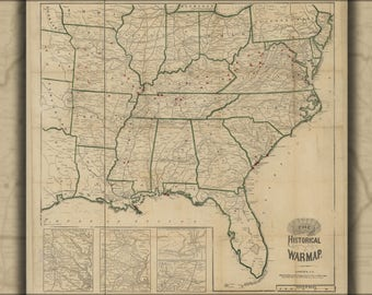 Poster, Many Sizes Available; Historical War Map 1863 Civil War