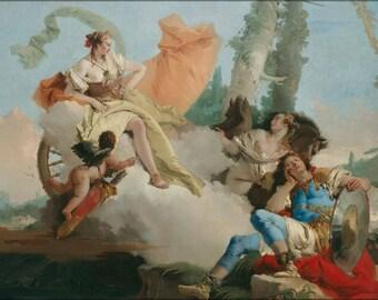 Poster, Many Sizes Available; Giovanni Battista Tiepolo Rinaldo Enchanted By Armida